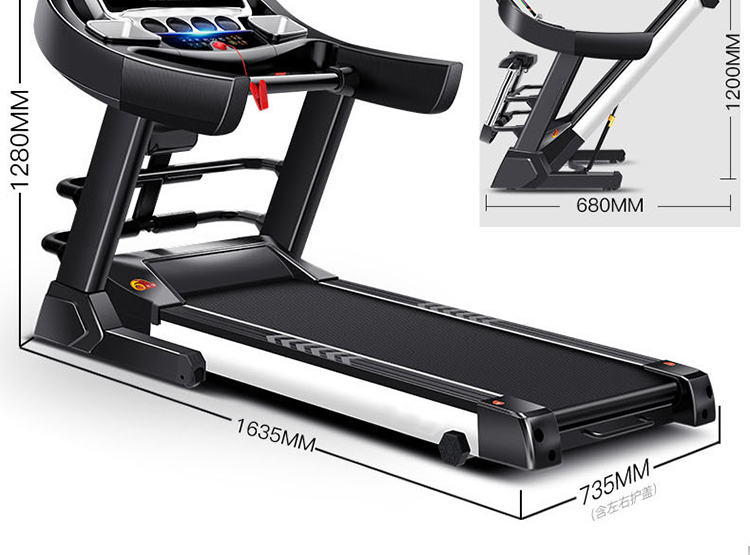 Luxury home treadmill, indoor silent, installation-free foldable aerobic fitness equipment, good shock absorption