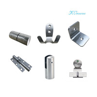 Bathroom Partition Stainless Steel Accessories Set Toilet Cubicle Hardware