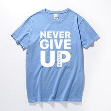 Футболка с надписью «Never Give Up» Salah Барселона 4-0, футболки для фанатов, футболка для футбола, качественные хлопковые уличные повседневные топы...(Китай)