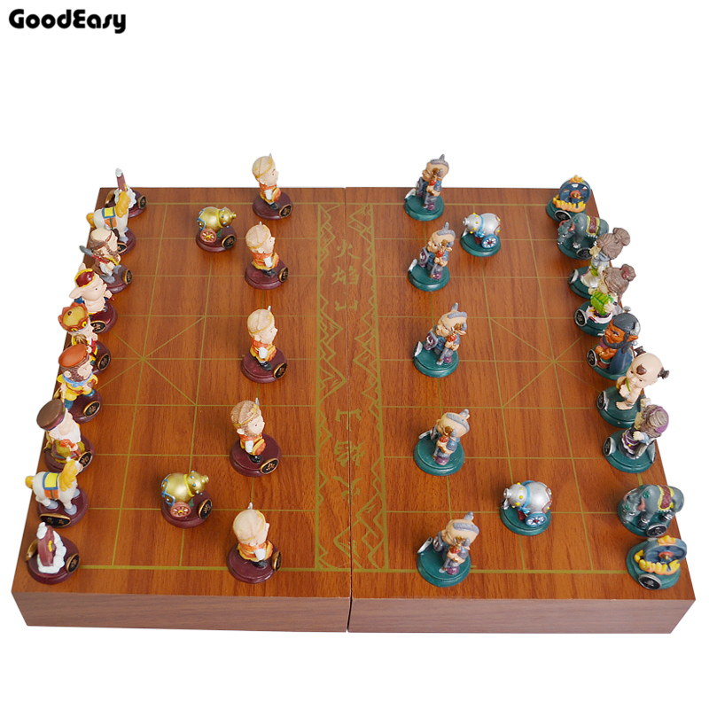 Chinese chess xiangqi schaakbord spel hout monopoly outdoor fabriek levering groothandel houten chinese checker board game