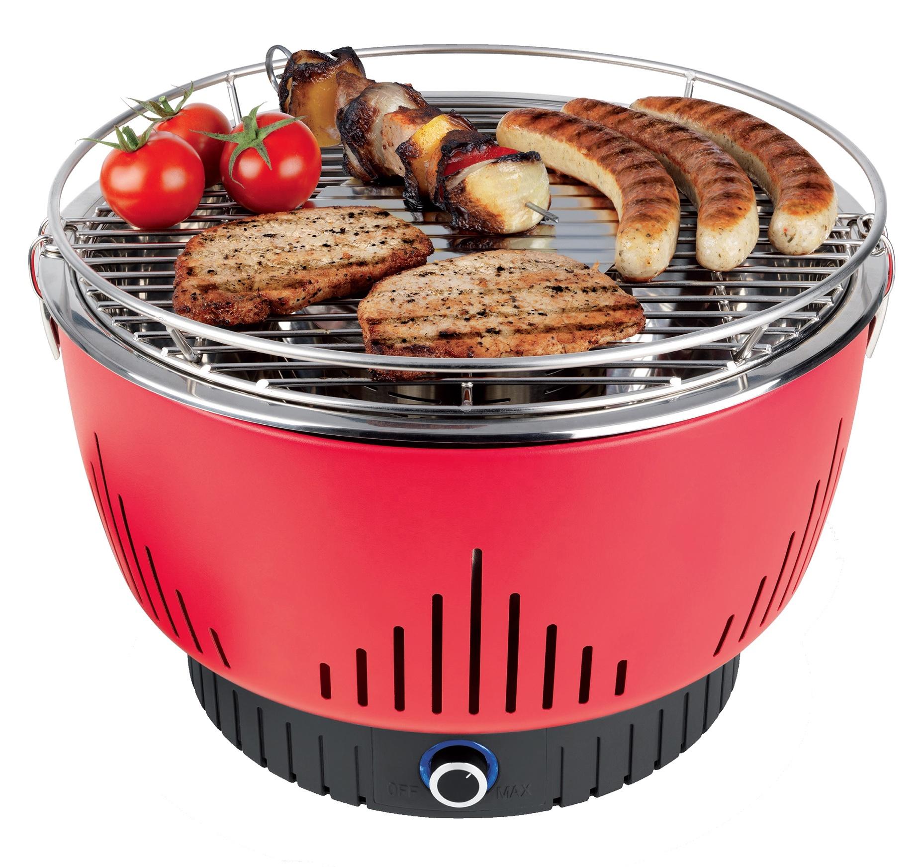 Charbon De Bois sans fumée avec LED En Acier Inoxydable 304 Portable barbecue en acier inoxydable
