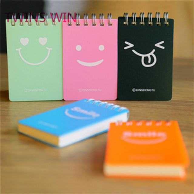 2020 New cheap stationery Customize Printing Hardcover Cute kawaii spiral kraft paper notebooks for school 1948