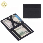 Wallet Rubber Rubber Wallets Custom Logo Many Colors Genuine Leather Credit Card Holder /magic Wallet With Elastic Rubber Band
