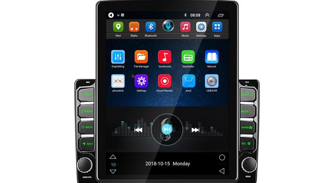 Podofo Android 8.1 Xe Đài Phát Thanh Video với 9.7 ''Dọc Màn Hình Cảm Ứng GPS Navigation Wifi Bluetooth Phổ Autoradio