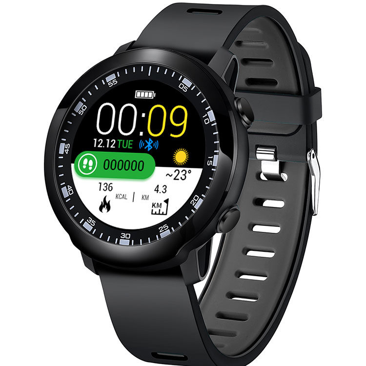 "1,3 ""Real completo redondo toque de color pantalla reloj inteligente 2019 con estilo simple interfaz de sistema"