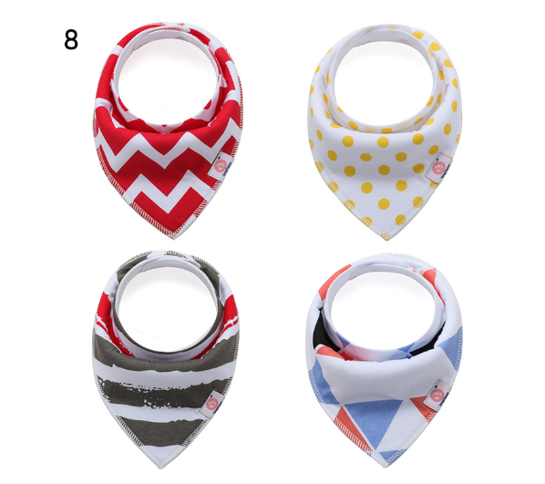 Extra Soft Natural Cotton Baby Drool Bib for Drooling Triangle Baby Bandana Bibs