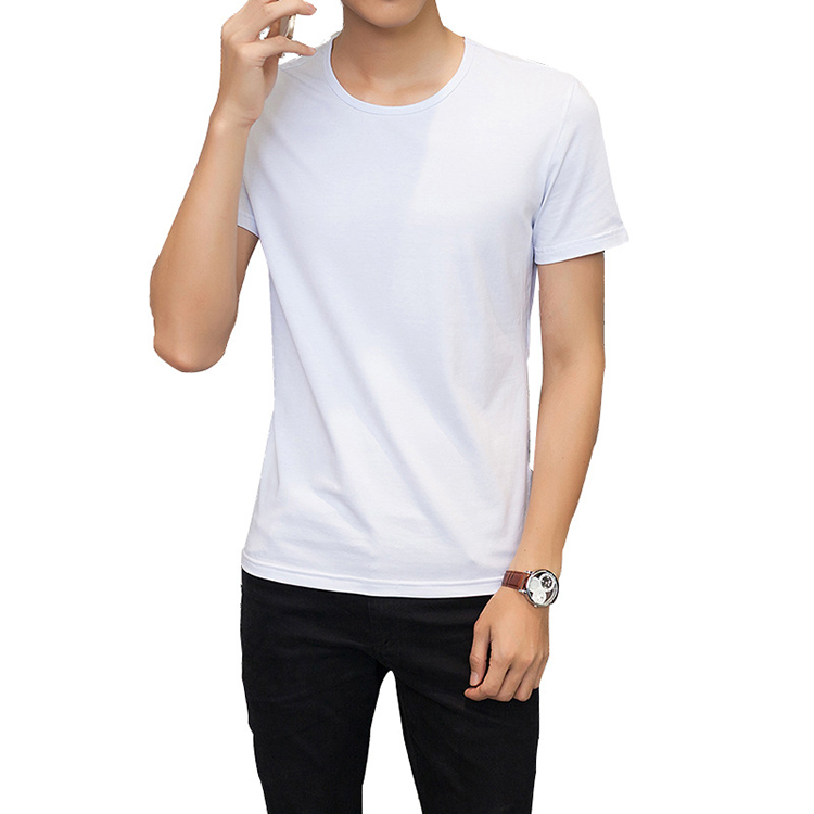 Hot Sale Men Combed Cotton T Shirts Large Size Loose Advertising 5 XL T Shirts