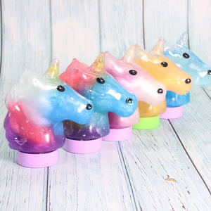 Hot sale crystal slime unicorn duck bear cute animal slime kit clay toy for kids