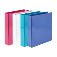 Quality custom vinyl 1.5 inch 30 ring folders binder with d slant rings