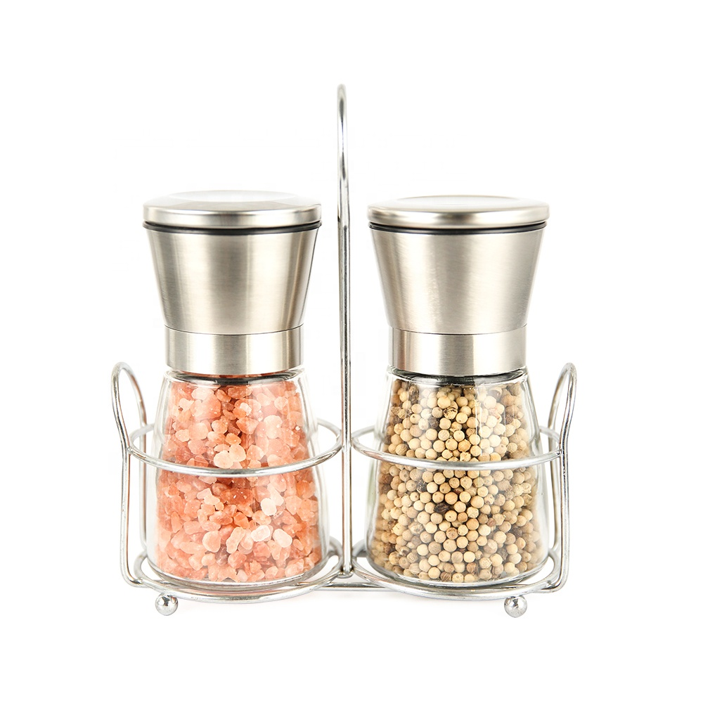 Glass Spice Grinder150ml Glass Hand Mill For Pepper 200ml