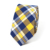 Mens Custom Blue Cotton Ties Fashion Woven Check Neck Tie