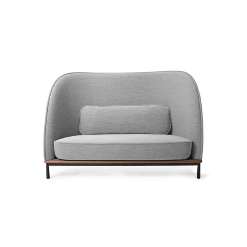 MoMA Latest Arc Design Gentle Character Upholstery Highback Love Seat Curved Sofa