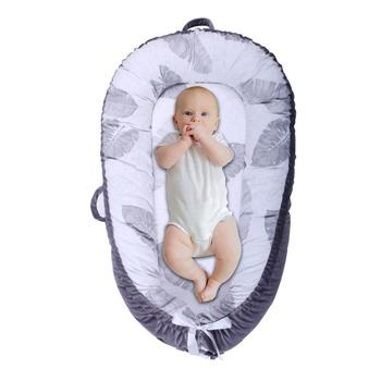 Functional and Useful 100% Cotton Babynest for Baby Sleep with quilt and pillow portable baby nest