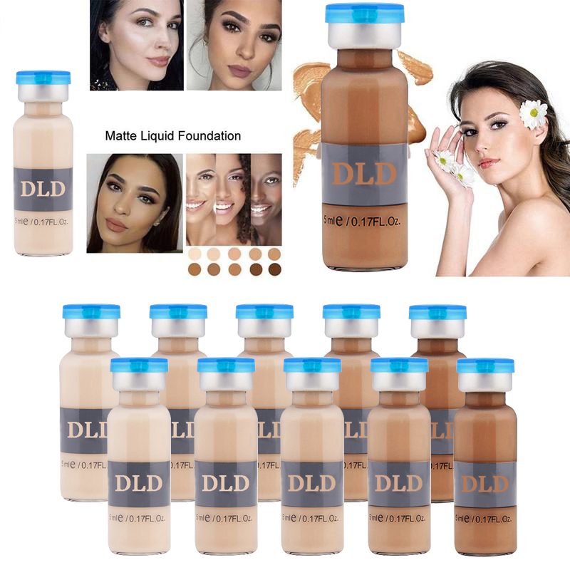 OEM 10 stks/set 5 shades bb cream gloeiende DLD Anti-aging serum Meso Wit Verhelderende Serum Natuurlijke Concealer Make up CC Foundat