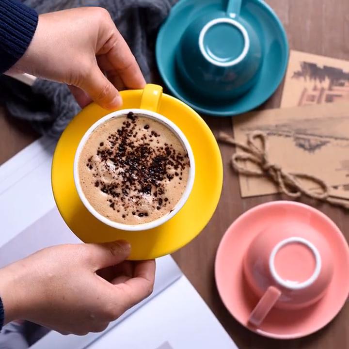 Glassa di ceramica piatto tazza di caffè Cappuccino Tazza di Caffè Tazza di Caffè Europeo grande Brocca
