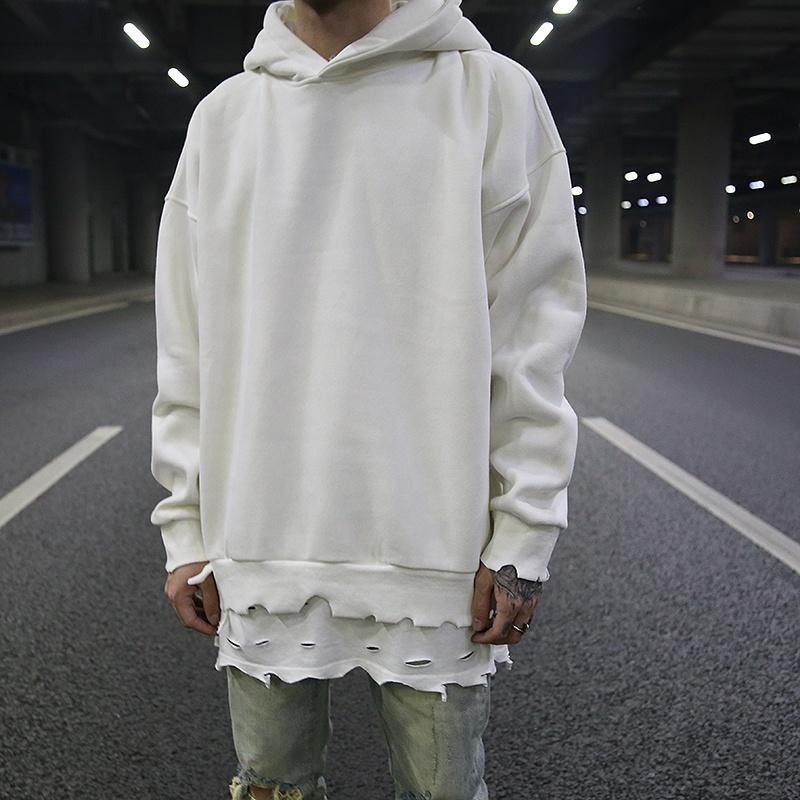 high quality custom streetwear blank high quality stock dropshipping distressed hoodie