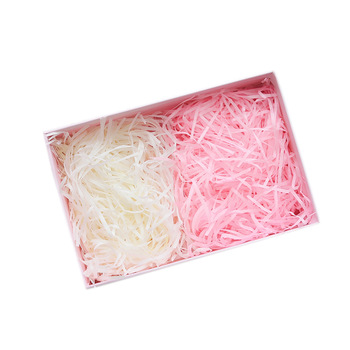 Candy box customized color shredded paper silk gift box filled with shredded paper,paper filler