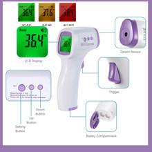 2 в 1 цифровой ИК инфракрасный термометр для головы пистолет для питомца собаки животного и человеческого тела(Китай)
