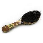 Wholesale 100% Boar Bristle 360 Curved Wave Man Custom Logo Wooden Beard Brush