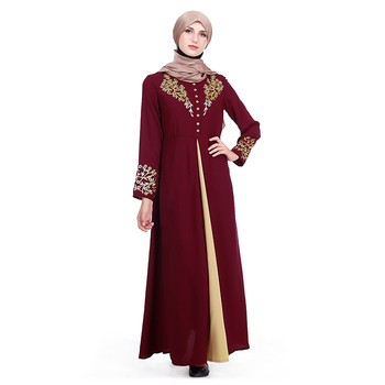 Latest Open Abaya Designs Elegant Qatar Muslim Wear Clothing Maxi Dress For Islamic Women