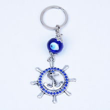 New Style Anchor Blue Evil Eyes Key Chain Factory Direct Sales