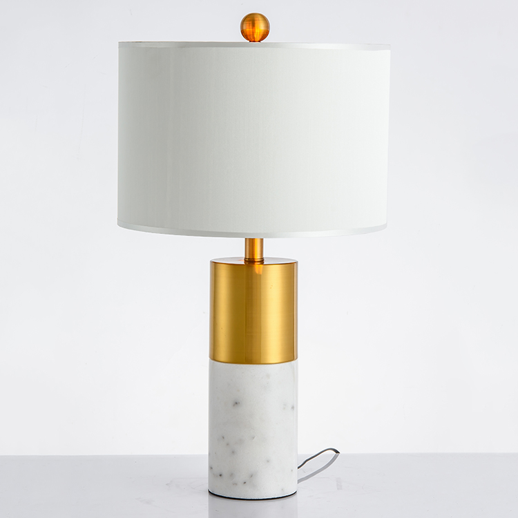 Zhongshan Manufacturer Table Lamp Desk Lamp Led Table Light with White Lampshade