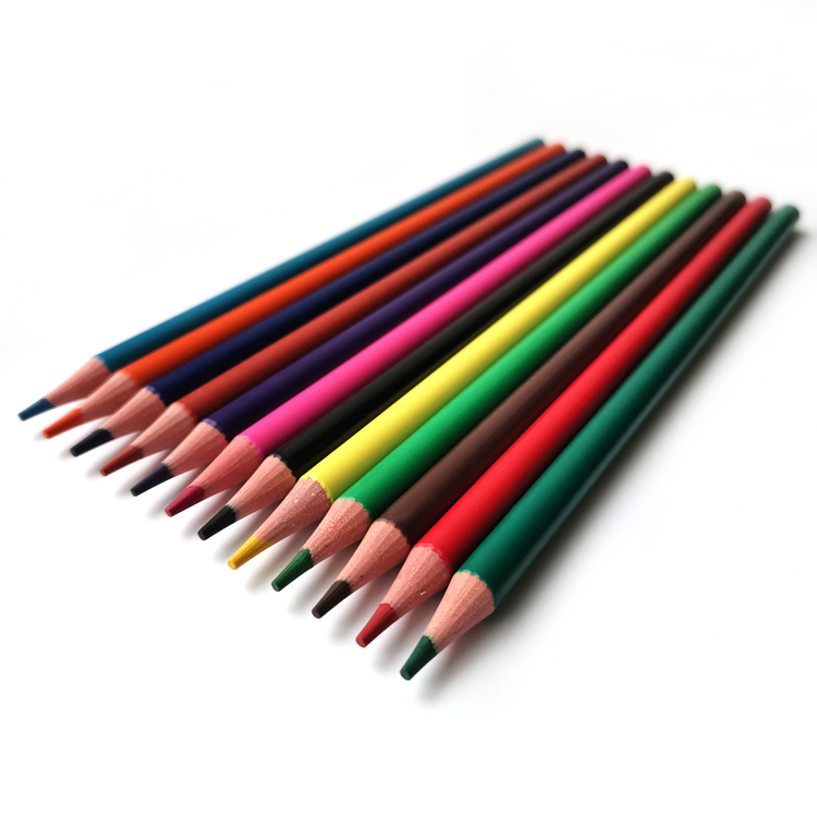 18 Years Manufacturer Custom Stationery set 12pcs Plastic Color Pencil Eco