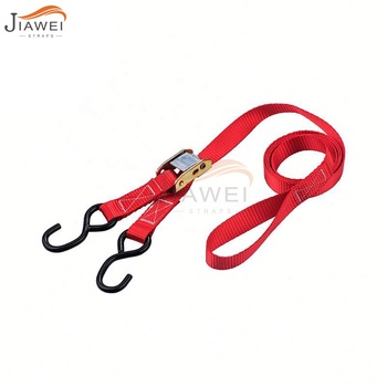 MINI 1inch 25mm 2m 6ft Zinc Alloy Cam Buckle Tie Down strap Lashing Strap With S Hook Ratchet Tie Down Loop Strap