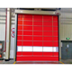 Industrial exterior pvc fast fold up stacking door