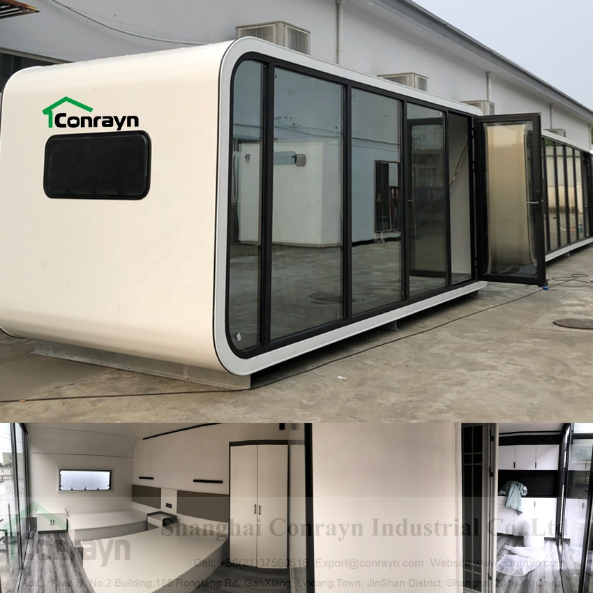 Fashion commercial and family use  the newest prefab apple cabin portable office movable house