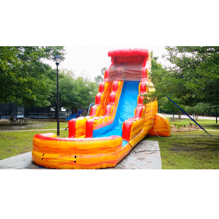 volcano china commercial grade air bounce inflatable water slide for kid