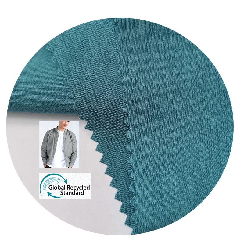 new products on china market 100% Polyester waterproof  fabric RPET   for recycled plastic shirts jacket