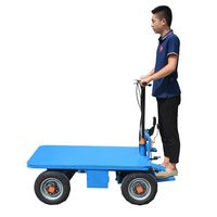China Iron and Steel Workshop Transports Four Wheel Electric Wagons