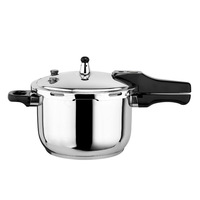 Hot sell Gas and Induction Cooker polished pot stainless steel pressure cooker with bakelite handle