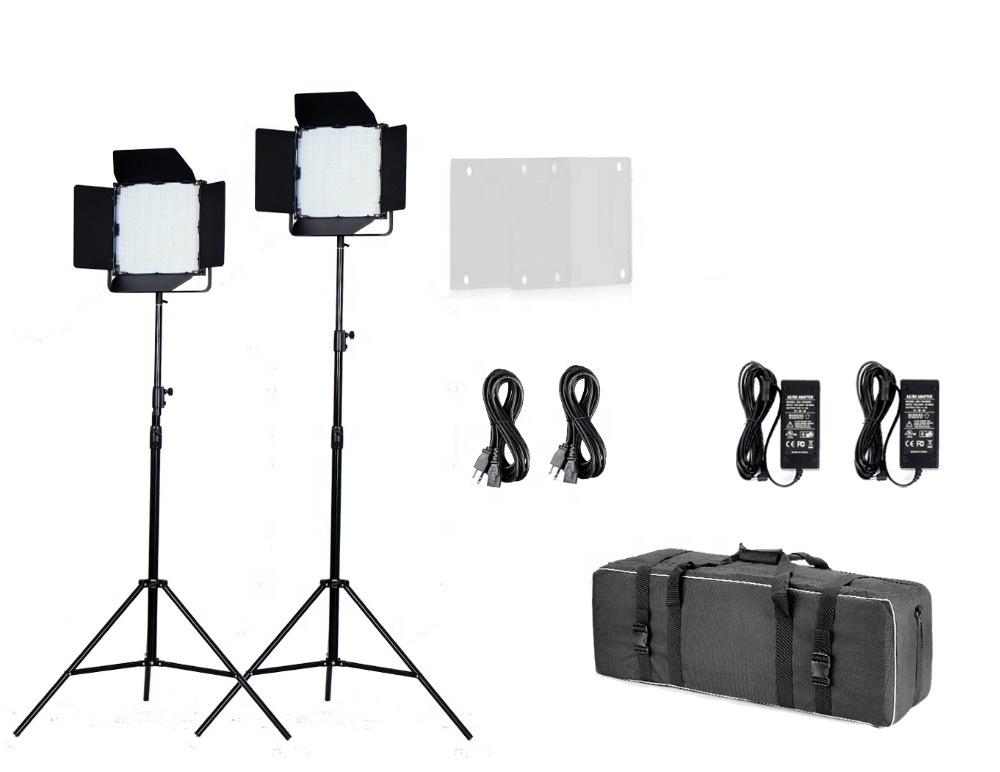 China manufacturer Tolifo 1000 bright LEDs bi color professional LED video lighting kit with DMX control