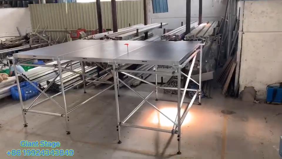 4ft x 8ft camada evento deck encravamento estágio instalação rápida etapa de alumínio