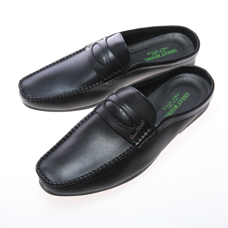 casual loafers wholesale luxury high quality new model private label handmade mens half shoes for men