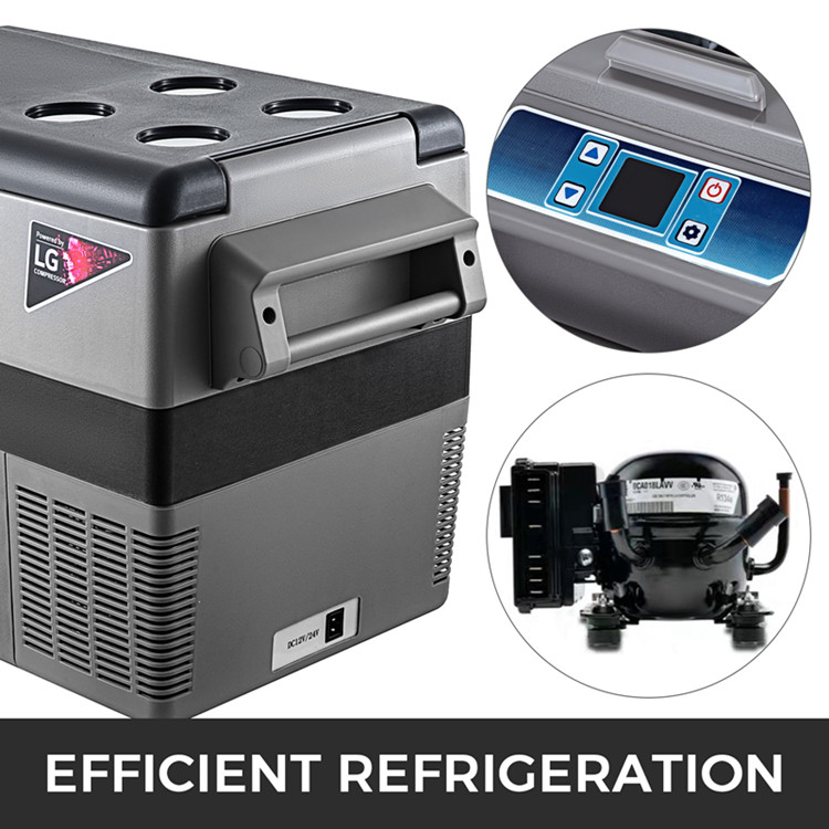 China 45L Cheap Price Car Refrigerator 12V Mini Car fridges for sale