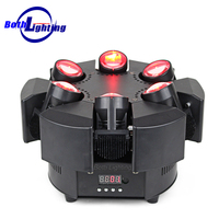 Disco Dj LED Moving Head Light Infinity Rotation Led 6 * 10W Rgbw 4in1 Super Beam Light