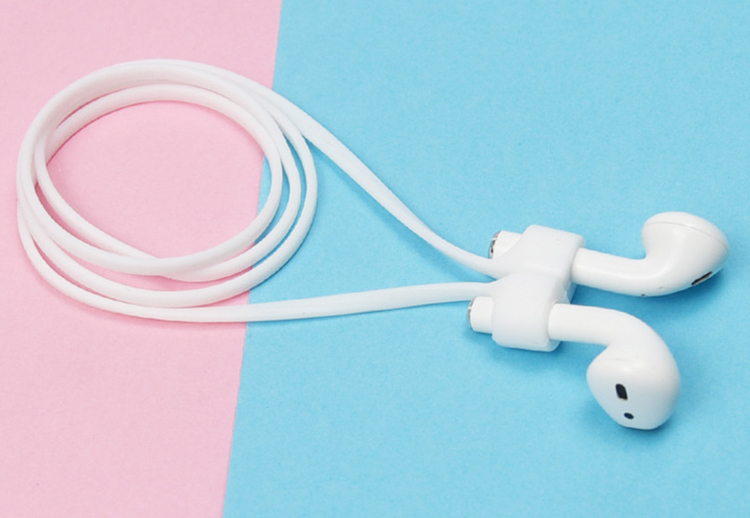 New Design Durable Soft Anti-Lost Silicone Wireless Earphone String Cable