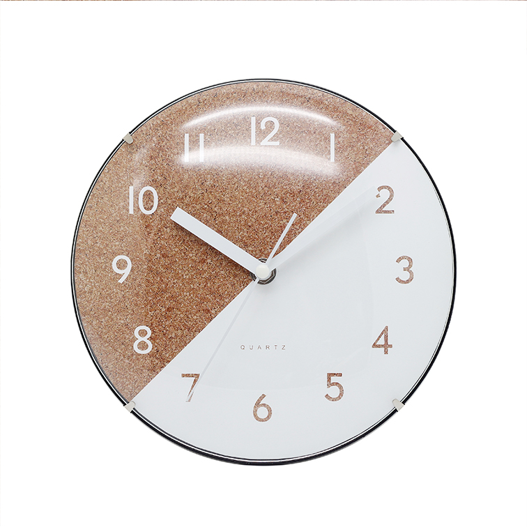 2020 8inch 20CM arched glass wooden plastic wall clock
