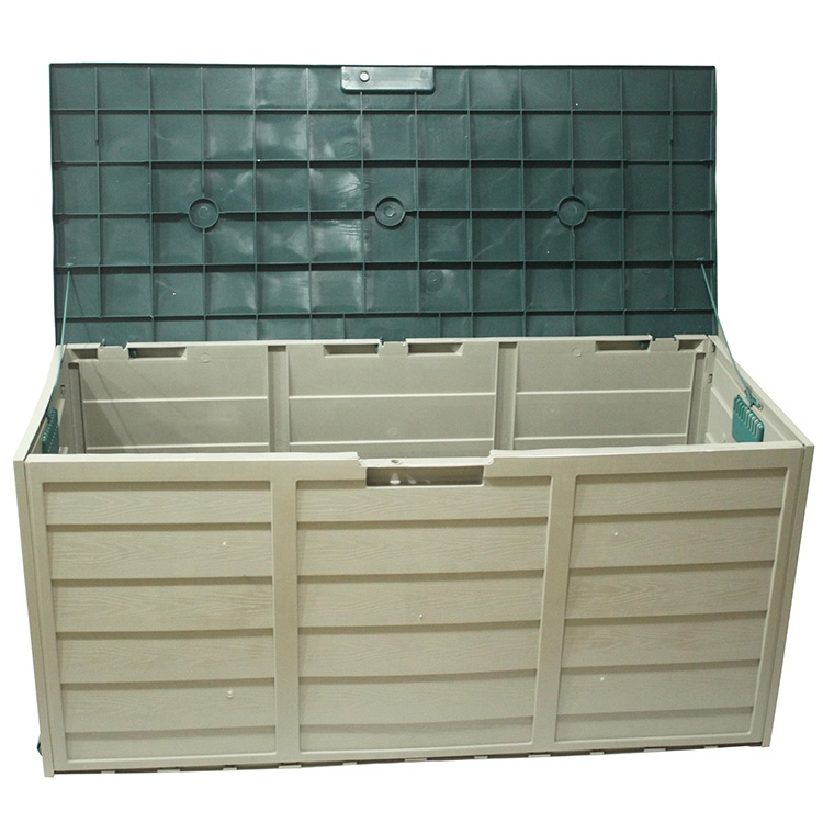 Heavy Duty Outdoor Gardem Storage Box Large Tool Box Shed Plastic Garden Trash Bin