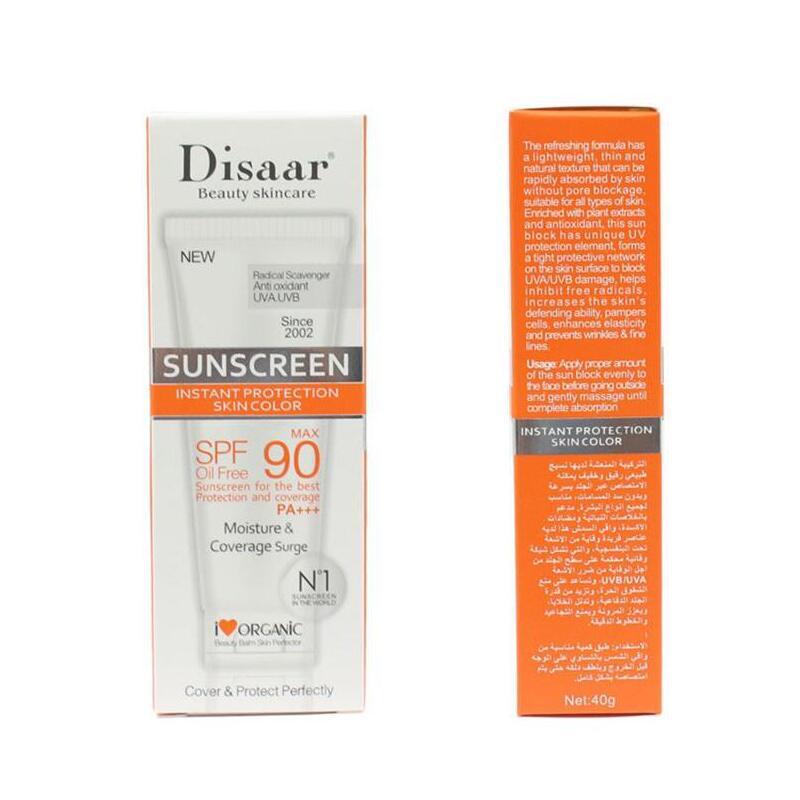 Disaar SPF 50 Sun block Organic Natural White ning Honig Feuchtigkeit spendender Bulk-Sonnenschutz