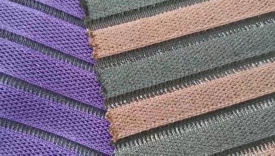 HH-062 100% Polyester Lưới Không Khí Vải Dọc Vải Dệt Kim Cho Đệm Ghế Ngoài Trời Đệm