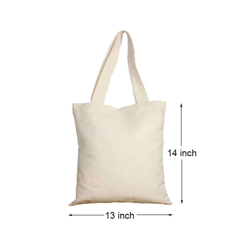 "wholesale custom logo 13"" X 14""  shopping cotton tote bag"