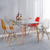 Contemporary colorful PC dining chairs