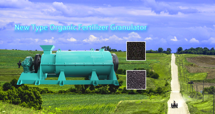 High capacity organic fertilizer production line