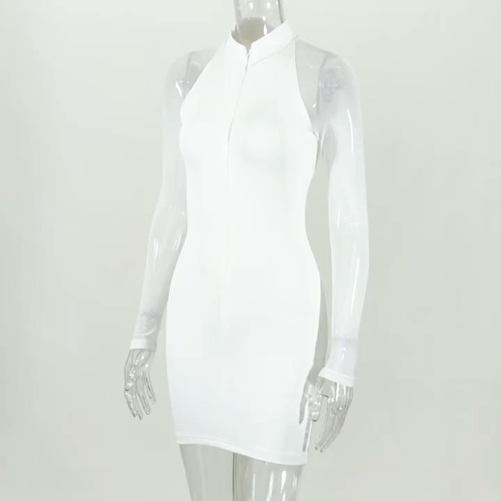 2020 새로운 도착 여성 패션 캐주얼 드레스 숙녀 캐주얼 드레스 가을 폴리 에스터 드레스