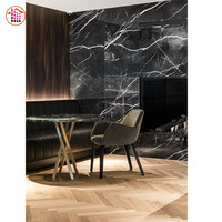 Polished Villa Glazed Italian Marble Tile Marble Tile Floor Black Marble Tile