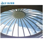 Modern design low cost steel structure dome glass roof hotel steel frame building